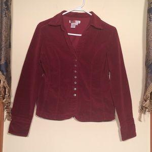 Live A Little Small Cranberry jacket/blazer